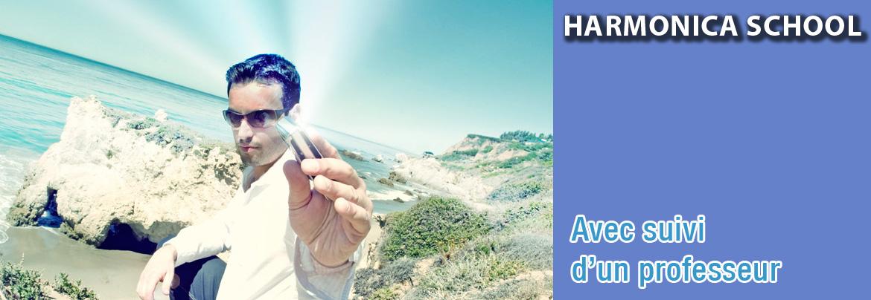 Jouer de l'harmonica avec un professeur